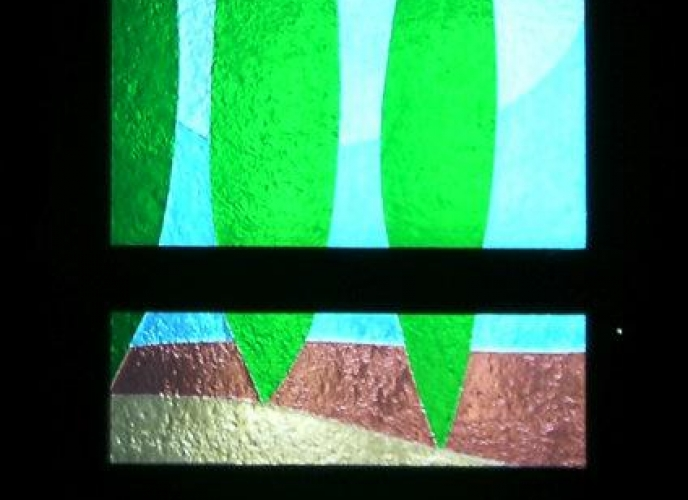 Decorazione con vetro a fusione